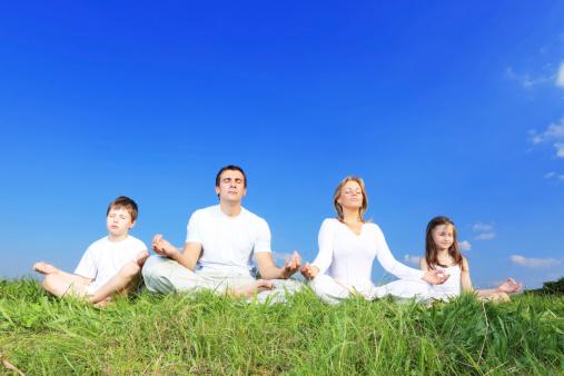 meditação em familia